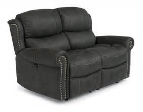 flexsteel living room fabric reclining loveseat 1396 60