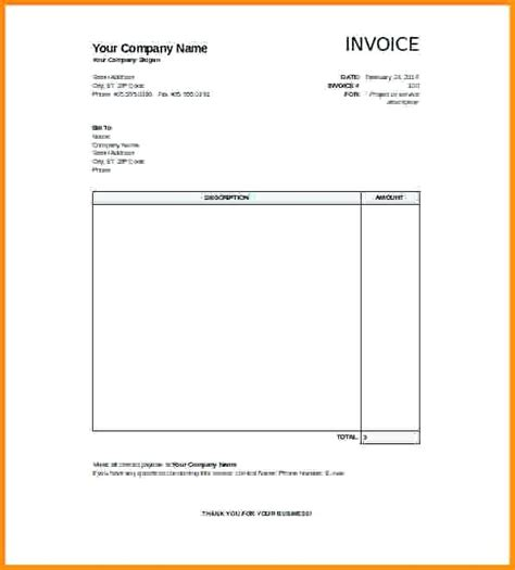 templates invoices free excel blank invoice template