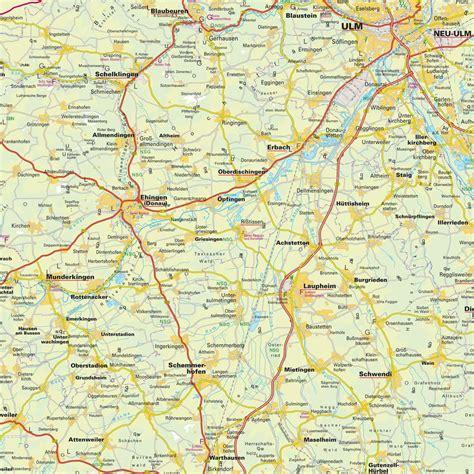 map of ulm germany map of the greater neu ulm area bavaria bayern germany