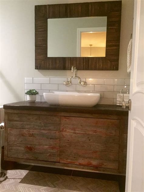 Wood Top Bathroom Vanity Bathroom Endearing Reclaimed Wood Bathroom Vanity Design Ideas Maleeq Decor Inspiring Home