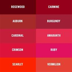 types of red color there are several names for deep red burgundy wine