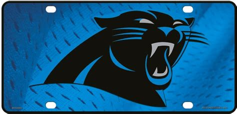 what color is carolina panthers blue carolina panthers cyan blue panther logo metal