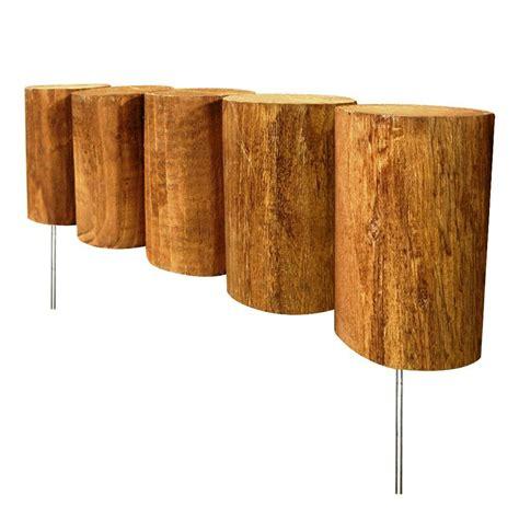 vigoro  ft wood full log edging rcb  home depot
