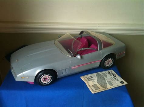 barbie corvette silver vintage 1980 s barbie 1983 silver corvette in box nice