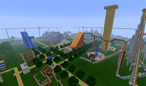 theme park names minecraft gigantic theme park minecraft project