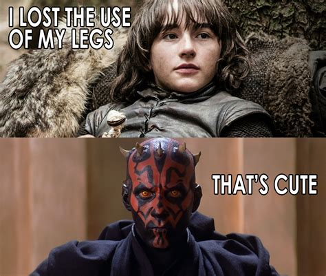 Star Wars Game Of Thrones Meme - star wars vs game of thrones memes that s cute softbody