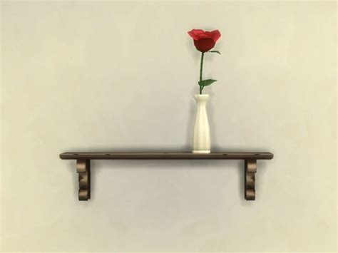 rustic wall shelf shadow fix by plasticbox at mod the sims