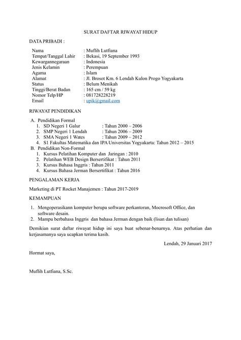 form daftar riwayat hidup lamaran kerja download 15 contoh surat lamaran pekerjaan yang baik dan