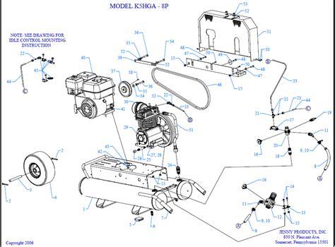 emglo k5hga 8p air compressor parts