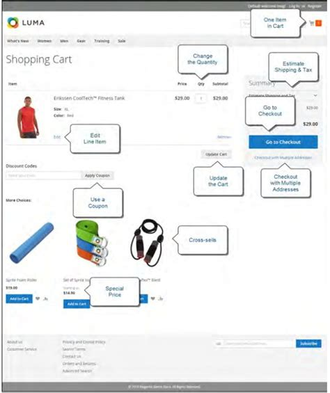 customize magento 2 shopping cart page