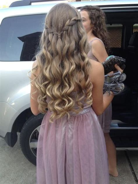 hoco hairstyles down 25 best ideas about waterfall braid prom on pinterest