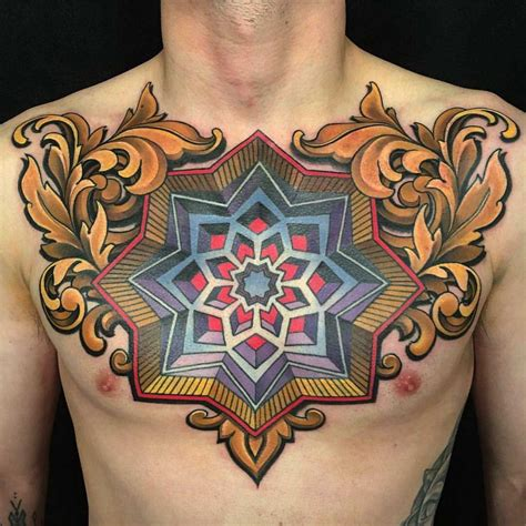 traditional chest tattoo neo traditional chest neo traditional
