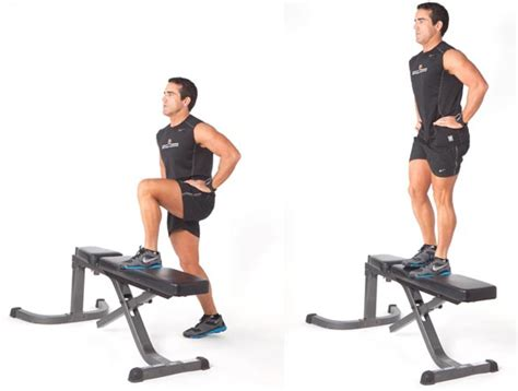 bench step ups with dumbbells 3 great butt exercises you need to do