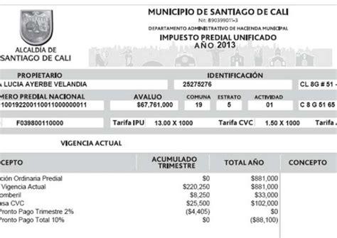 liquidacion pago impuesto predial bogota 2016 impuesto carro colombia liquidacion cali liquidacion