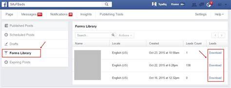 facebook ads power editor tutorial tutorial cara menggunakan facebook lead ads dalam power