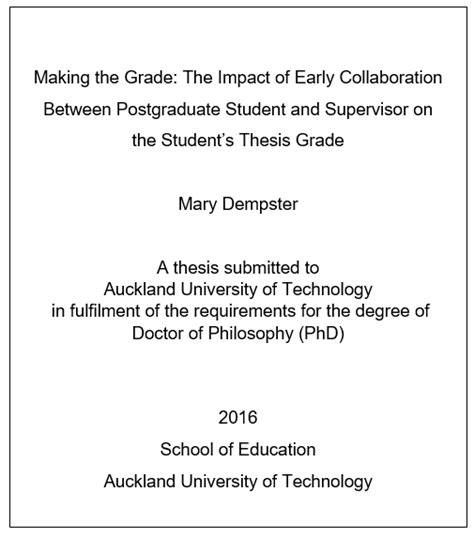 exles of dissertation titles sle thesis title page