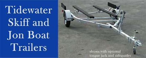jon boat trailer tire size galvanized skiff and jon boat trailers from tidewater trailers