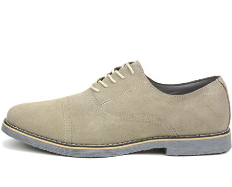 oxfords shoes alpine swiss aston mens lace up oxfords genuine suede cap