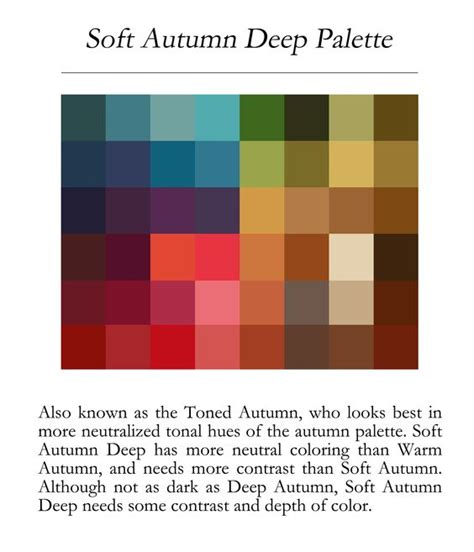 deep autumn color palette soft autumn deep palette soft autumn season pinterest