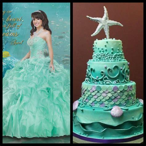 sea themed quinceanera dresses ariel dress aqua marine cake perfect