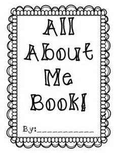 all about me book template all about me book