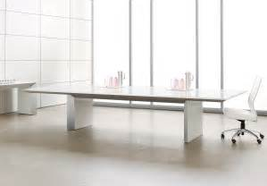 Glass Conference Table White Glass Conference Table Ambience Dor 233