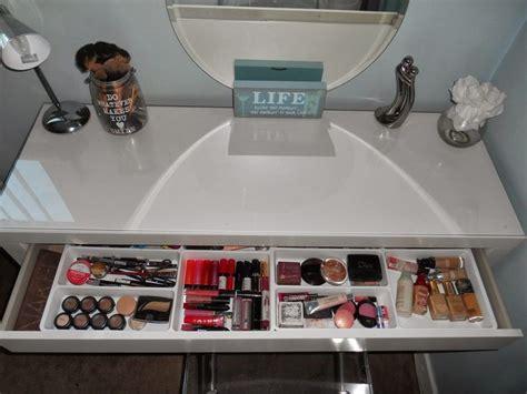 Organize Vanity Table Http Www Orglamix Make Up Organization Malm Vanity Makeup Organization Vanity