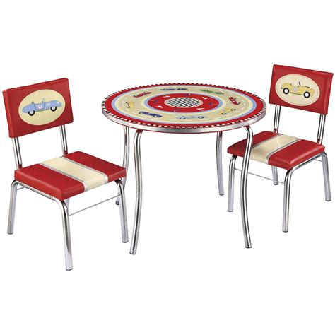 guidecraft table and chairs guidecraft 174 retro racers collection table and chairs set