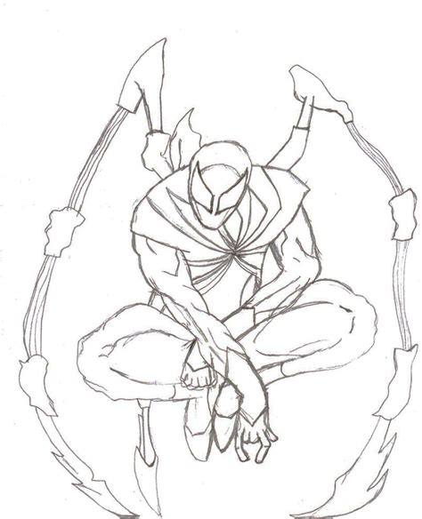 iron spider free coloring pages