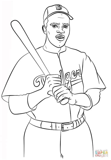coloring page for jackie robinson tom brady coloring page az coloring pages