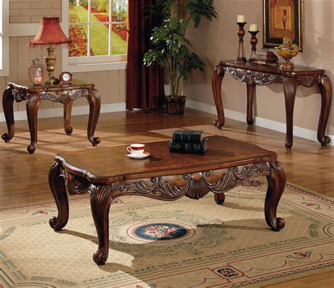sofa table set traditional occasional coffee cocktail end table set coaster