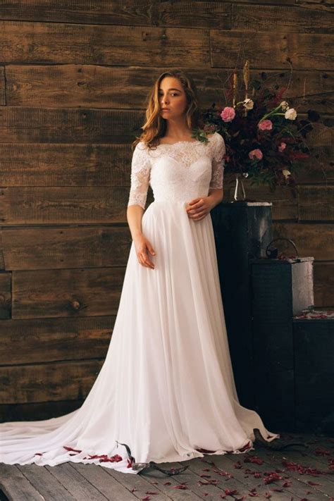 simple summer wedding dresses summer weddings boat neck