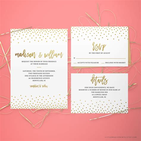 wedding invitation packages printable wedding invitation package by littlemagicprints