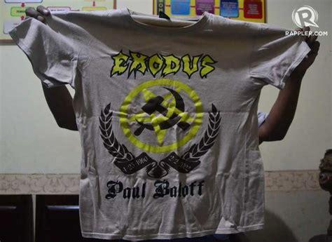 kaos exodus band metal ex 04 penjual kopi di malang ditangkap karena pakai kaus gambar