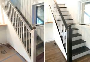 Painted Staircases Black Vs White Facci Designs How To Paint A Staircase Black White