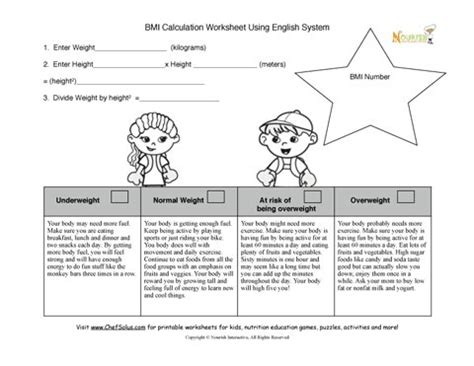 hydration worksheet bmi calculation worksheet for nurses and dietitians