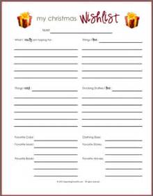 Printable Christmas Wish List Template Wish Lists Printables For Boys Girls Amp Everyone