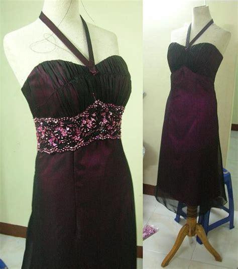 Dress Renda Payet desainer gaun terusan midi sifon dan satin dengan renda