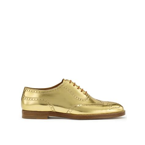 ralph oxford shoes lyst ralph specchio quintin oxford in metallic