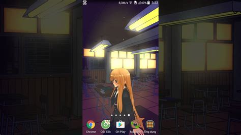 wallpaper anime live android anime school girl 3d android live wallpaper vertical mode