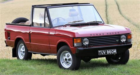 convertible land rover discovery 1973 range rover convertible goes to auction