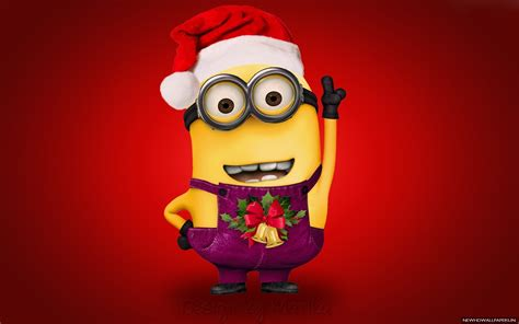 images of christmas minions minion wearing merry christmas wallpaper new hd wallpapers