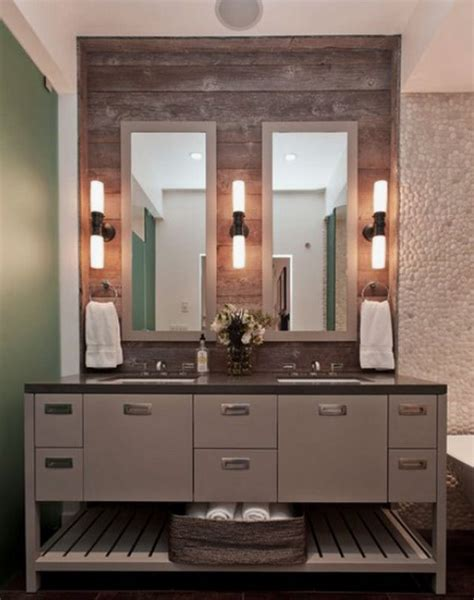bathroom mirror with sconces wood framed bathroom vanity mirrors universalcouncil info