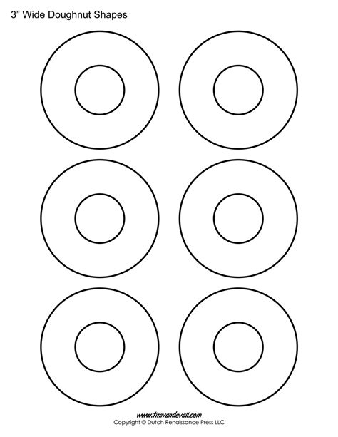 Donut Template printable donut templates blank doughnut shapes