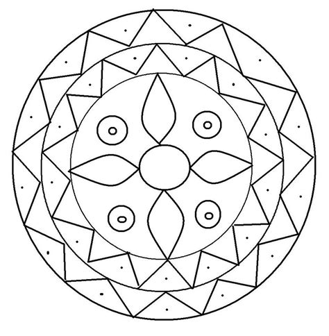 Free Printable Rangoli Coloring Pages For Kids Colouring In Templates