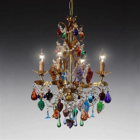 lustres de murano lustre en verre de murano 4 feux baglioni luminaires murano
