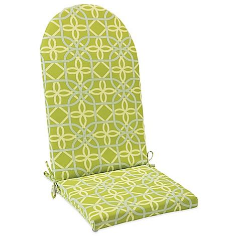 adirondack cusions outdoor adirondack cushion with ties in fret kiwi bed