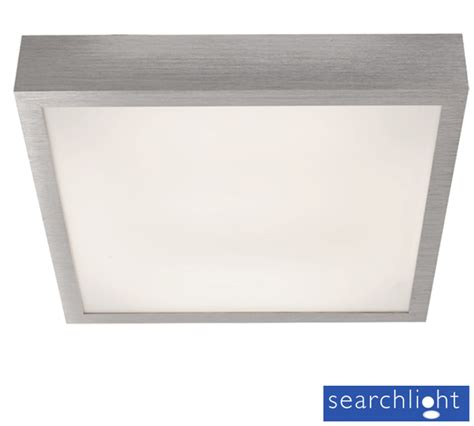 searchlight led square ceiling tile light chrome 1881
