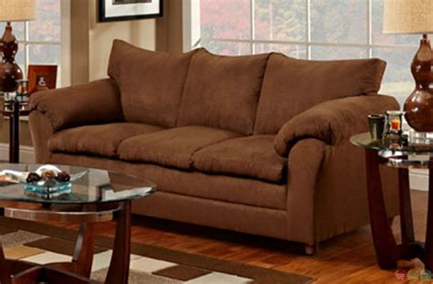 microfiber sofa and loveseat chocolate microfiber upholstered sofa and seat set