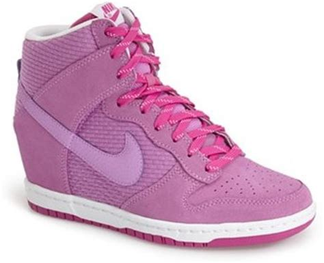 Sepatu Nike Sky Hi Dunk Pink Nike Wedges nike dunk sky hi essential wedge sneaker in pink white white brown lyst